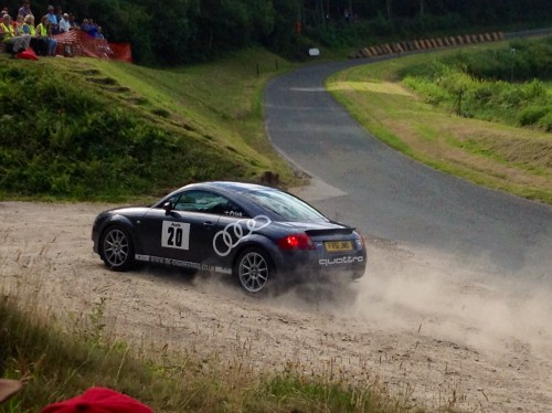 Audi TT Castle Hillclimb crash sequence 3